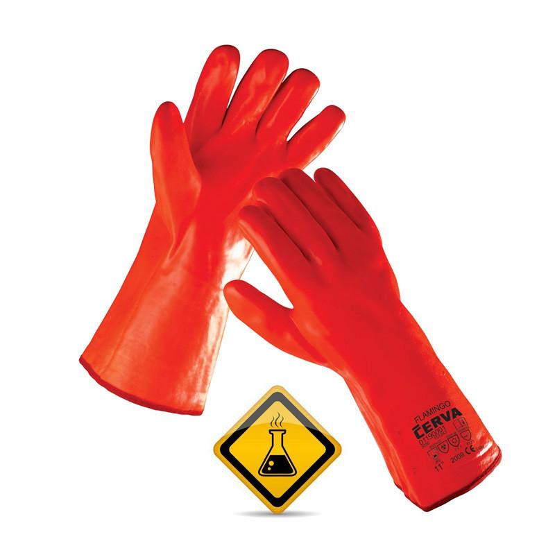 Rukavice FLAMINGO hemiski otporne naložene