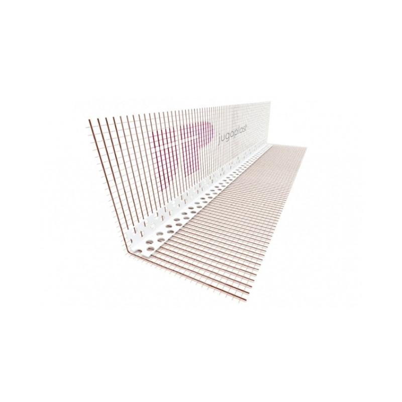 Lajsna ugaona PVC sa MREŽICOM 10cmx15cm L=2,5m