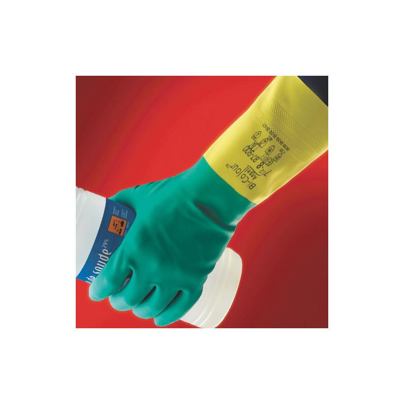 Zaštitine rukavice BI-COLOUR kiselo otporne