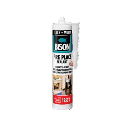 Bison FIRE PLACE 1250°C CRNI 530gr silikon za visoke temperature kamine