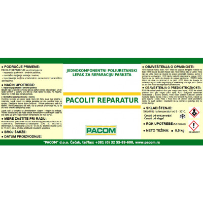 PACOLIT REPARATUR 500ml jednokomponentni poliuretanski lepak za reparaciju parketa