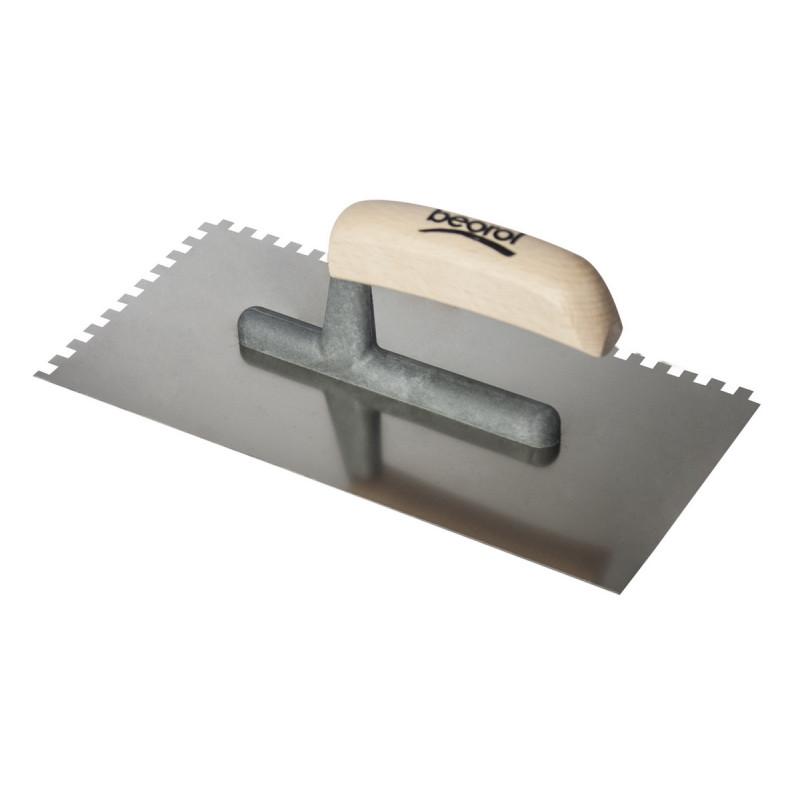 Gleterica nazubljena 280x140  zubi 6x6mm drvena drška