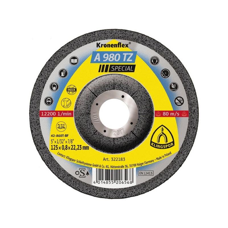 Rezna ploča KLINGSPOR A 980 TZ SPECIAL  115X0,8x22,23mm  za ČELIK i INOX