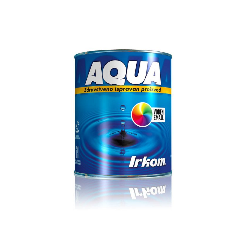Irkom AQUA emajl BELI SJAJ 0,7 lit vodena baza
